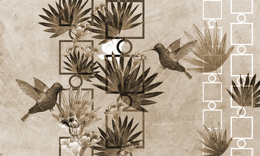 carta da parati uccelli in volo colore 4