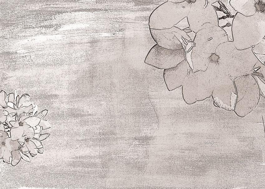 Fiori disegnati carta da parati camera da letto for Fiori disegnati