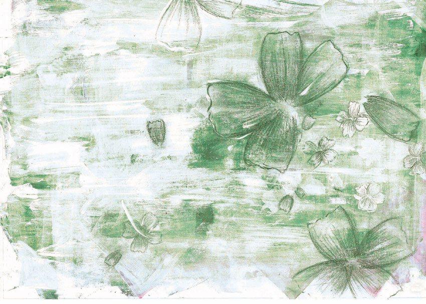 carta da parati tonalità verde