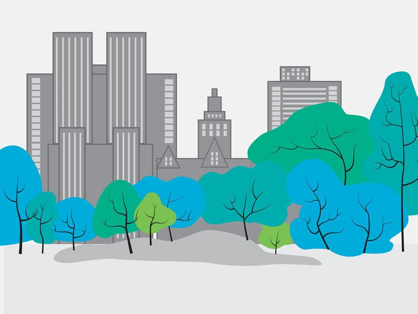 Colorazione 4 della carta da parati Central park