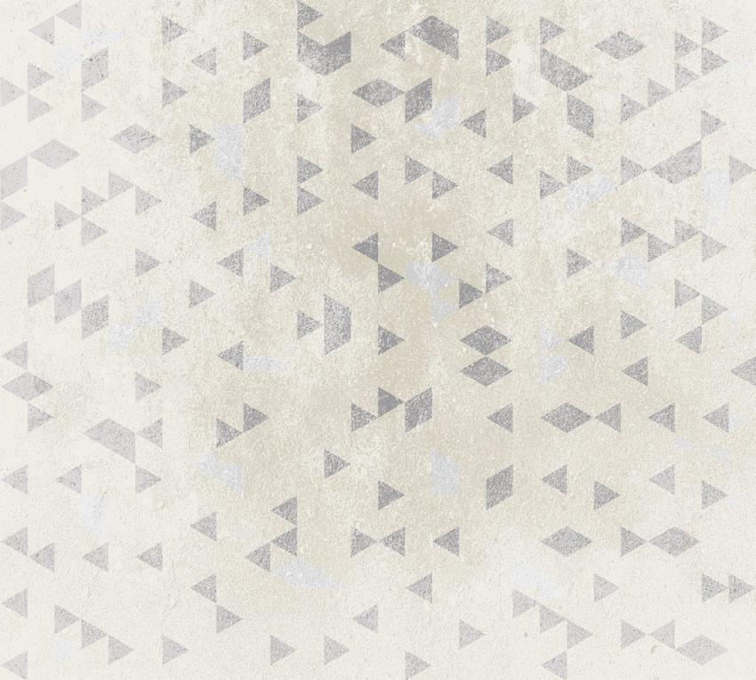 Terza variante di colore per la carta da parati, colore senape e grigio