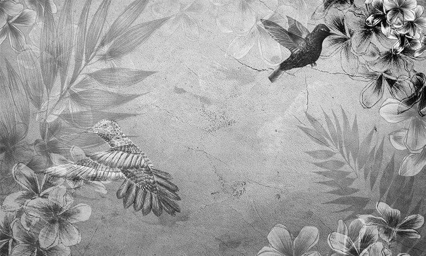 carta da parati colibri colore 2