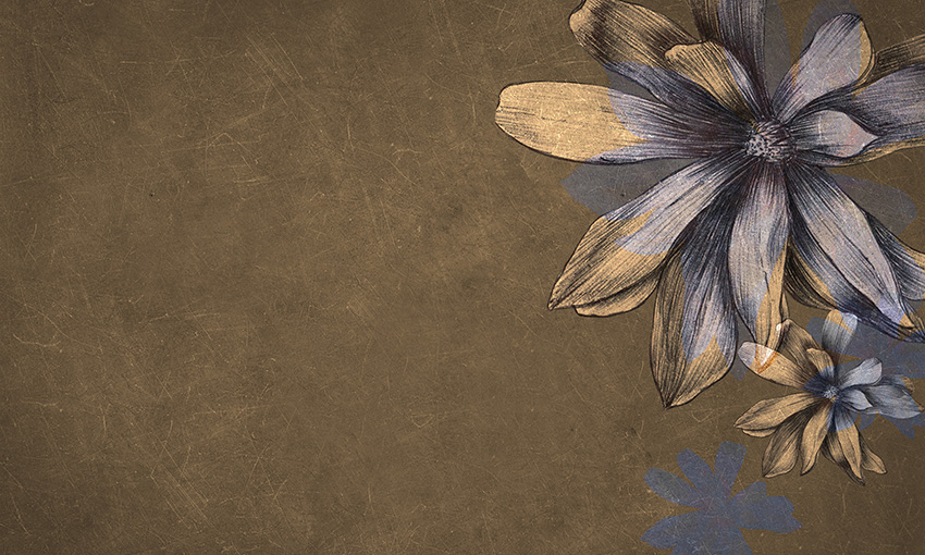 carta da parati magnolie colore 2