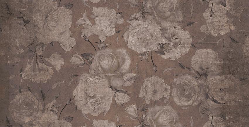 Colorazione 2 della carta da parati Rose nel deserto