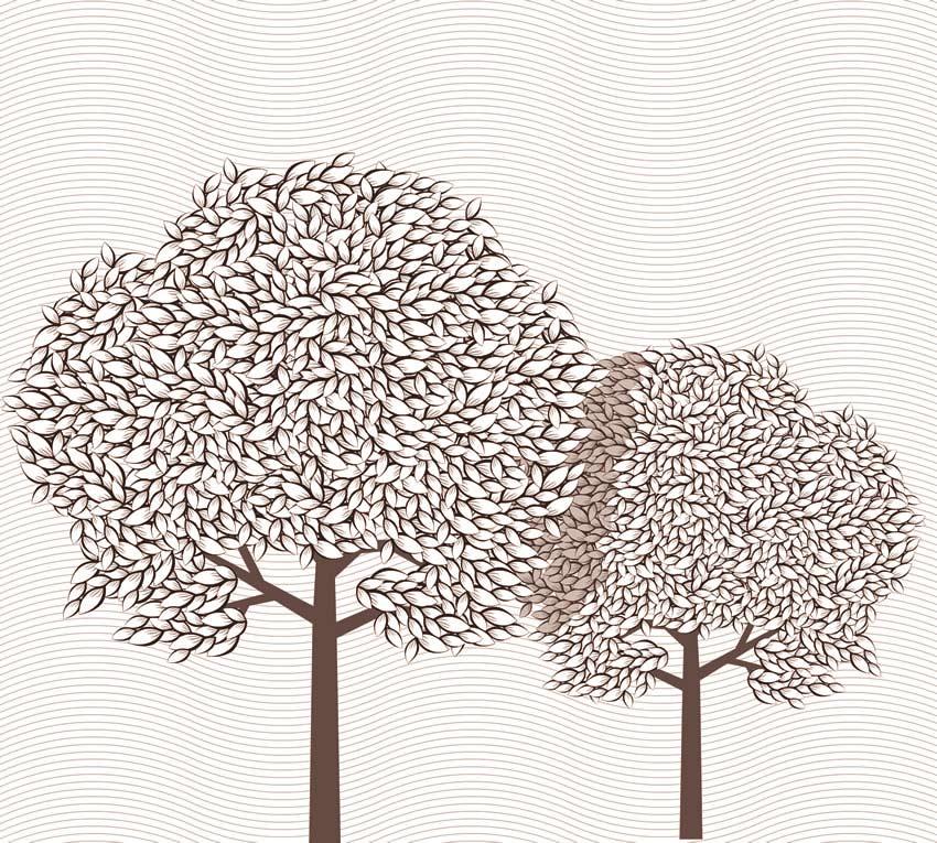 Seconda variante di colore per gli alberi astratti