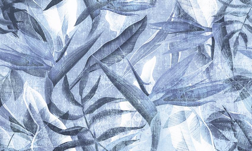 carta da parati pianta esotica colore 2