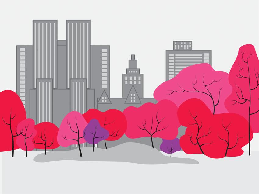 Colorazione 2 della carta da parati Central park