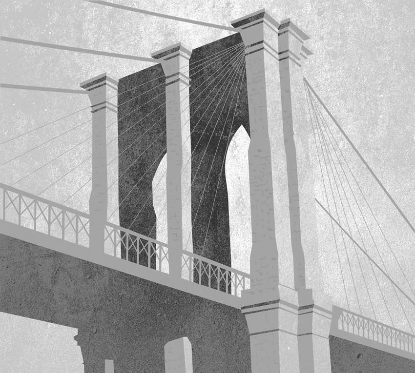 Seconda variante di colore per il ponte che ha rappresentato per lungo tempo il ponte sospeso più grande al mondo