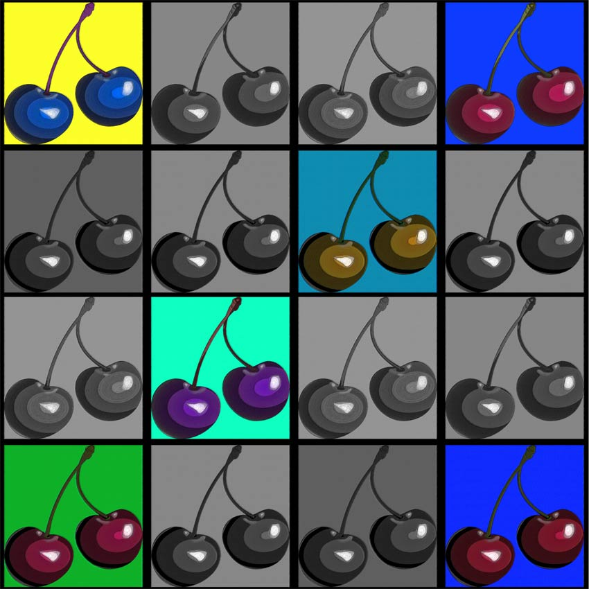Seconda variante di colore di genere pop art