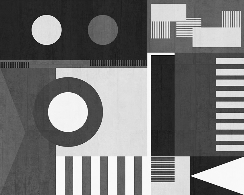 Colorazione 2 della carta da parati Bauhaus style