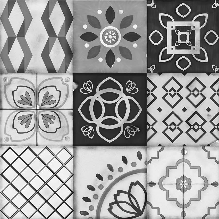 carta da parati ceramiche bianco e nero