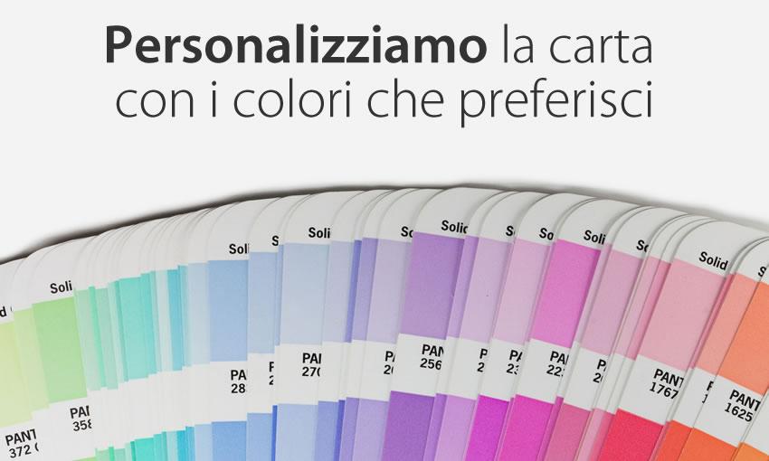 Personalizza i colori di questa carta da parati