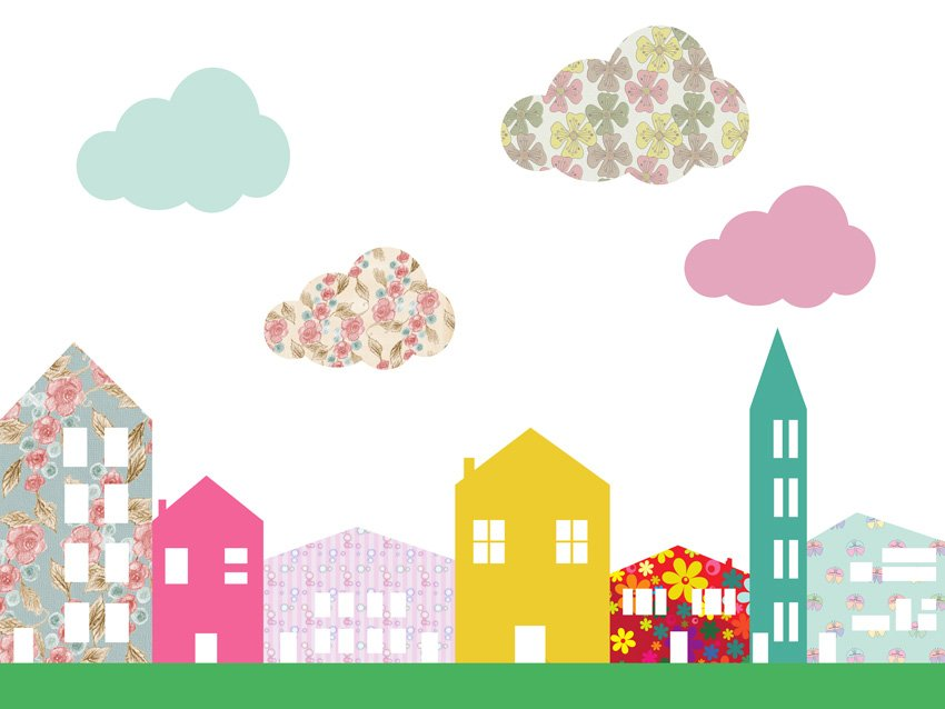 Immagine della carta dai colori accesi