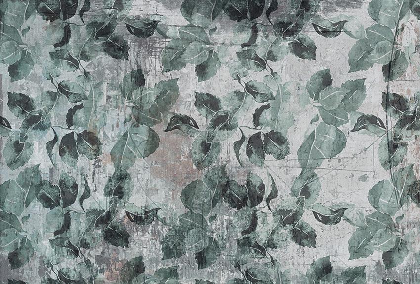 foglie su tela carta da parati