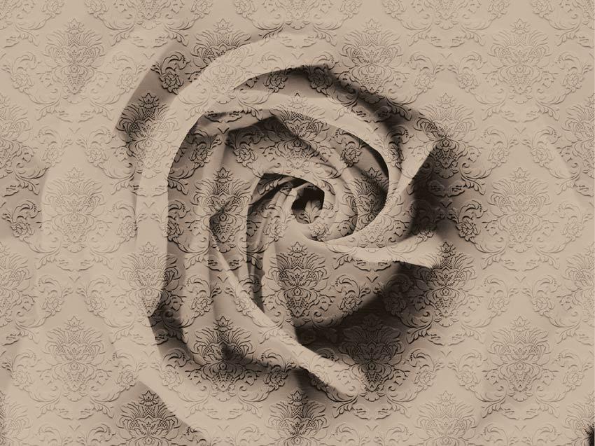 Carta Da Parati Damascata Rosa : Rosa damascata carta da parati damascata
