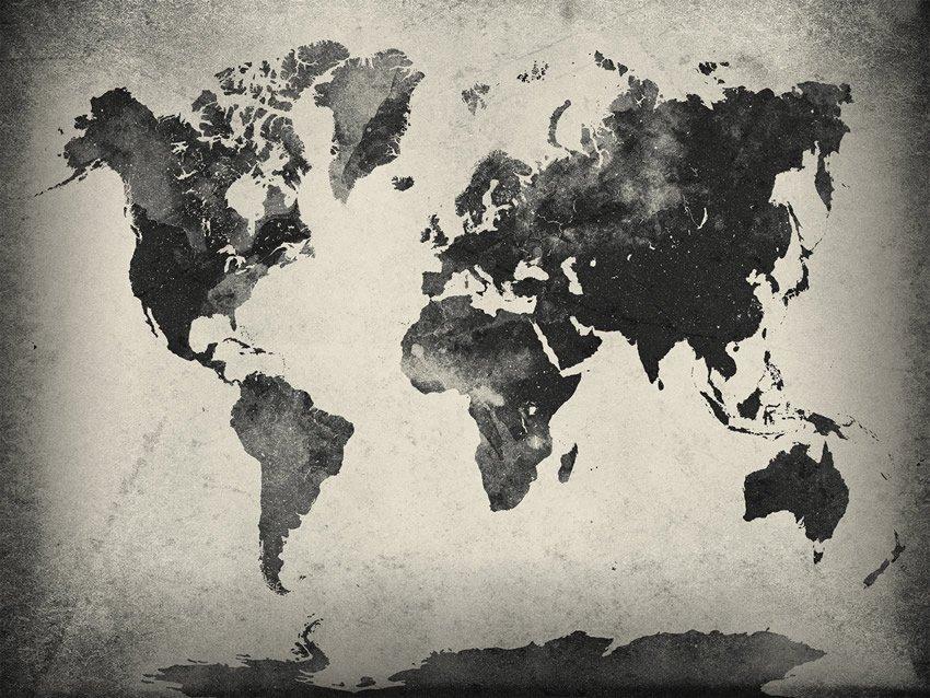 continenti carta da parati
