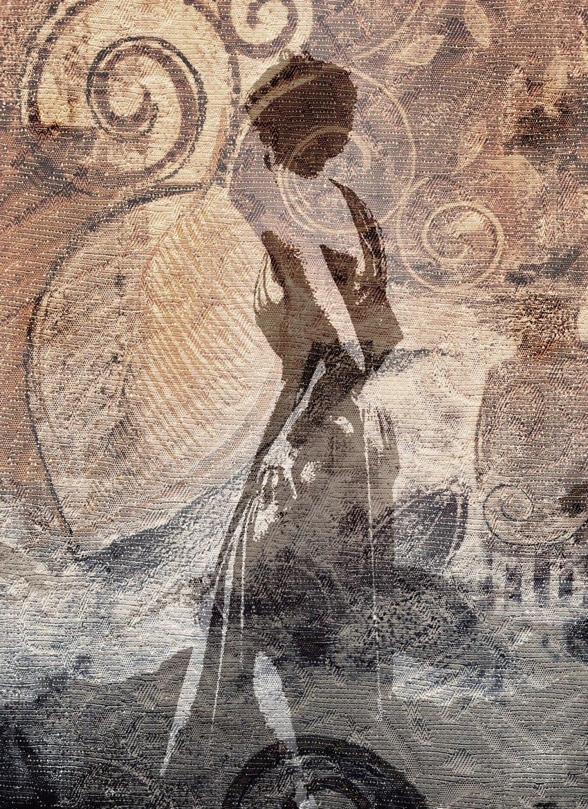 donna su tessuto carta da parati