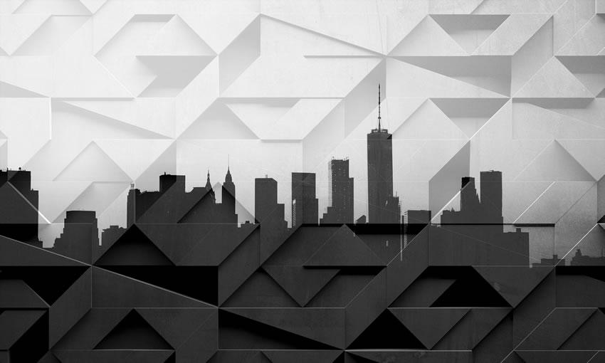 skyline moderno carta da parati