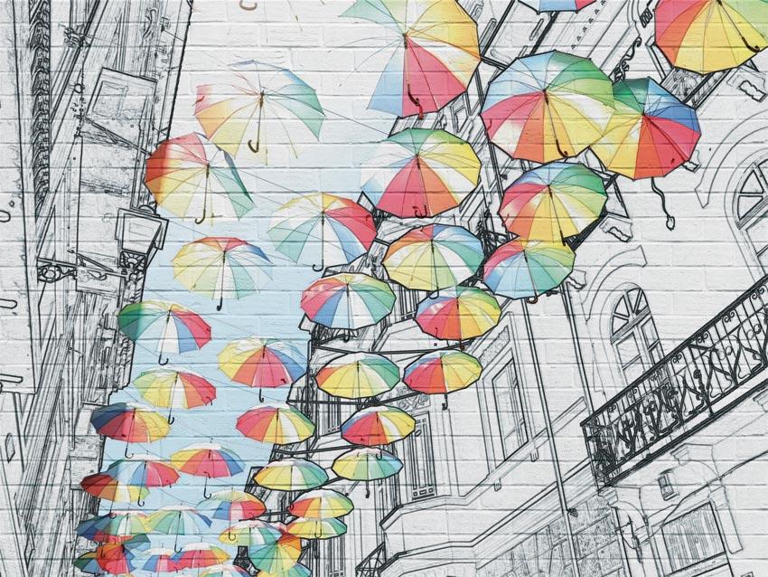 ombrelli carta da parati