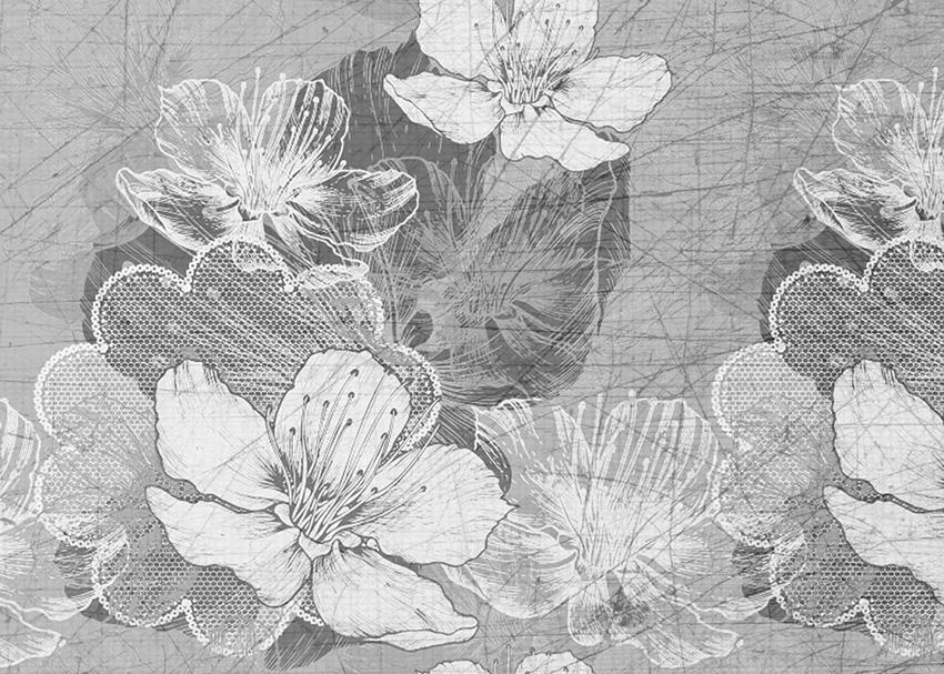fiori e ricami carta da parati