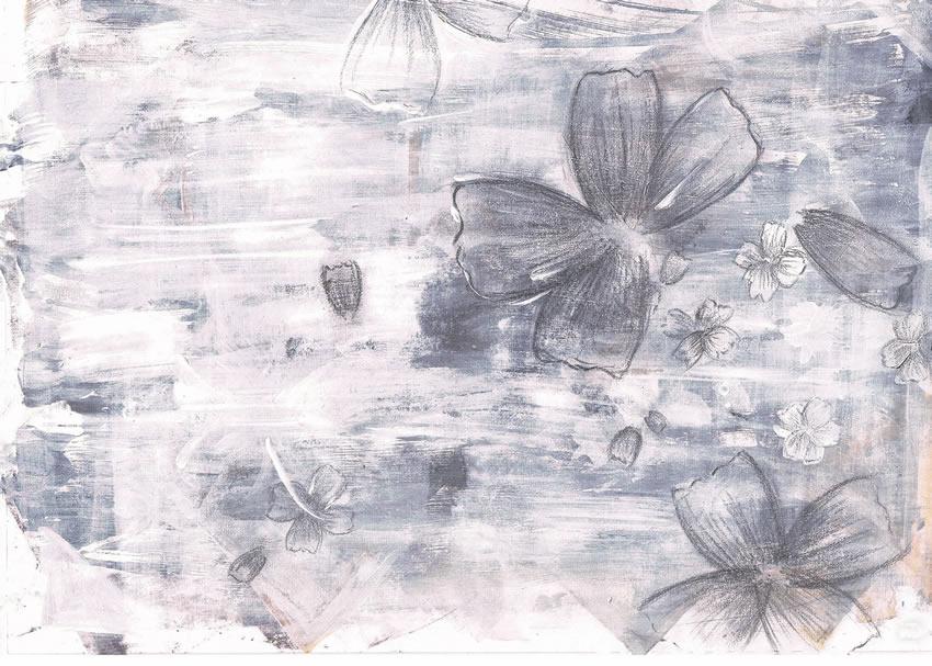 fiori stilizzati carta da parati
