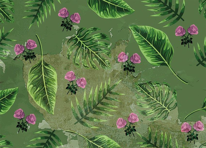 foglie carta da parati