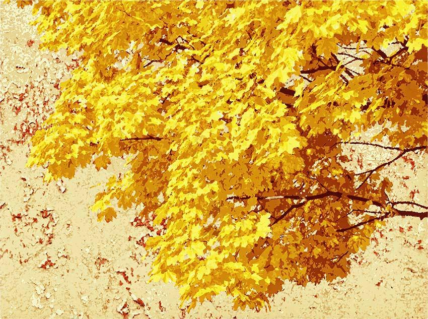 Prima variante di colore per foglie d'autunno