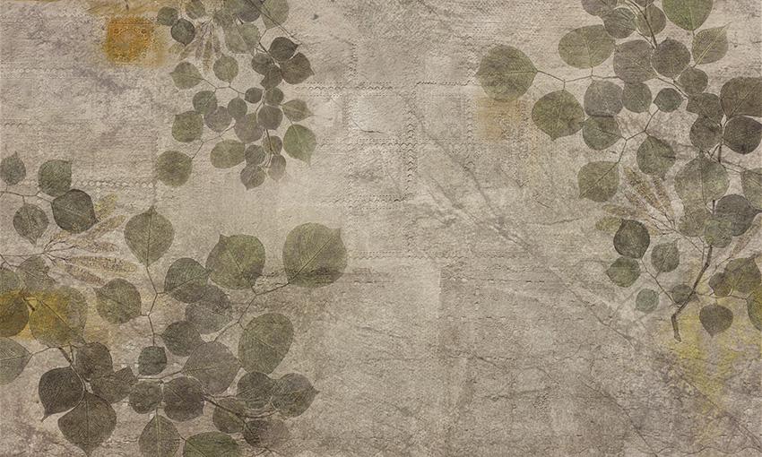 foglie larghe carta da parati