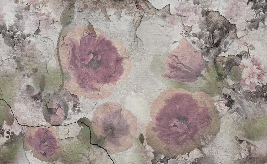 muro floreale carta da parati