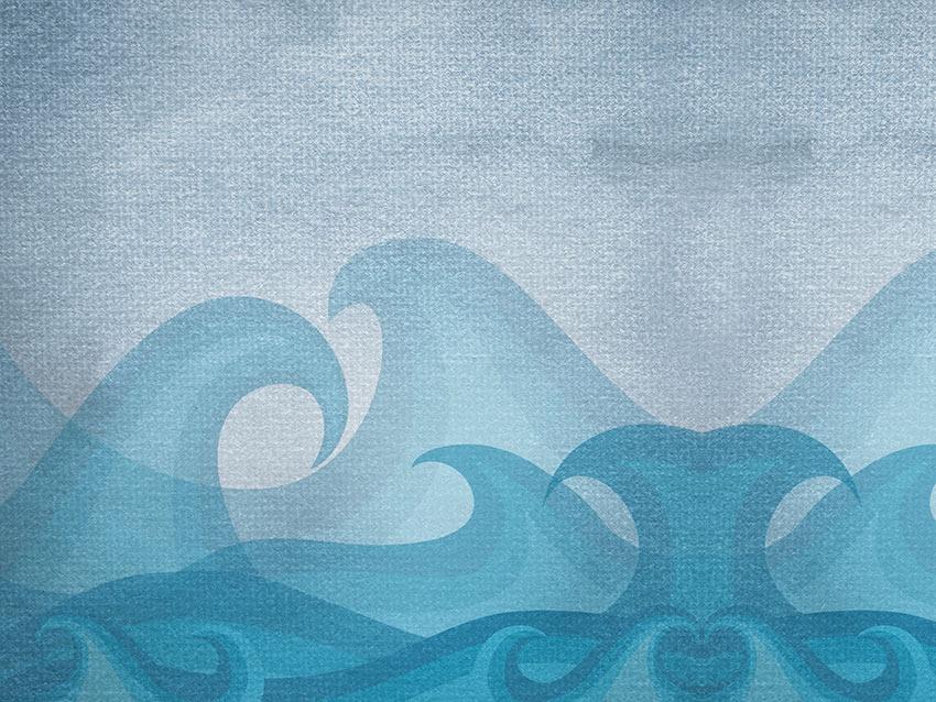 Grafica della carta da parati onde
