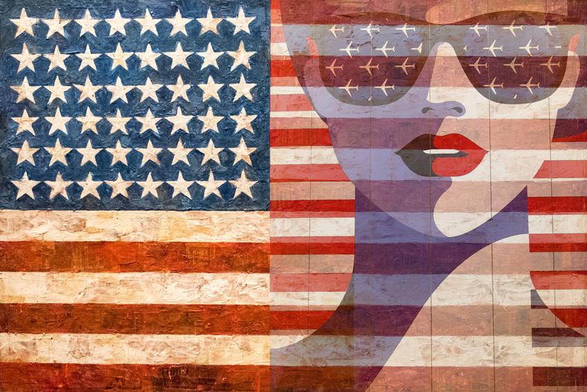 bandiera americana carta da parati