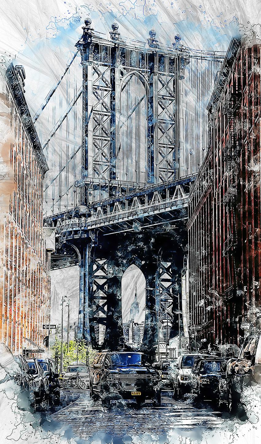 pioggia a new york carta da parati