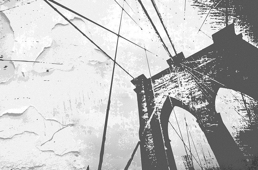 Primo tipo di colore per il ponte di New York