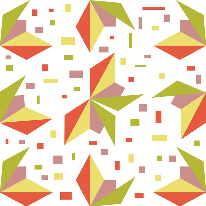 farfalle origami carta da parati