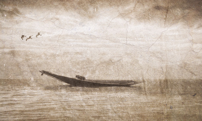 barca classica carta da parati