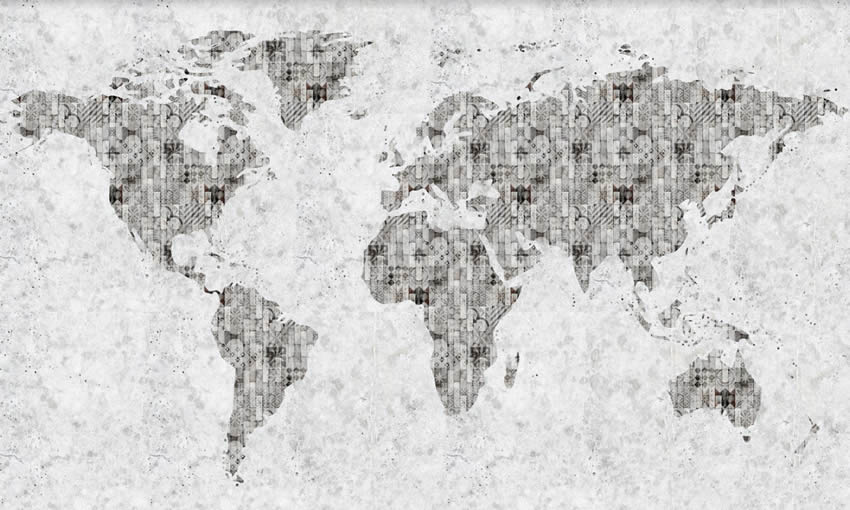 Cartina mondo carta da parati vintage for Carta da parati cartina geografica