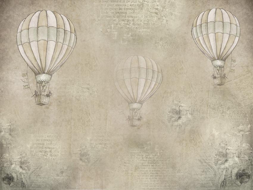 mongolfiere storiche carta da parati