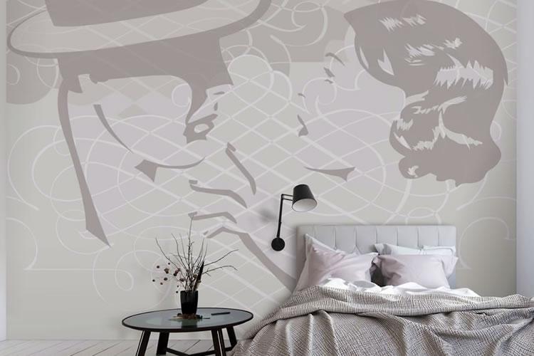 Parati su muro della camera da letto