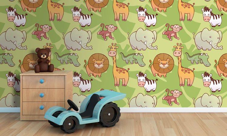 Grafica da far colorare ai bambini in camera da letto